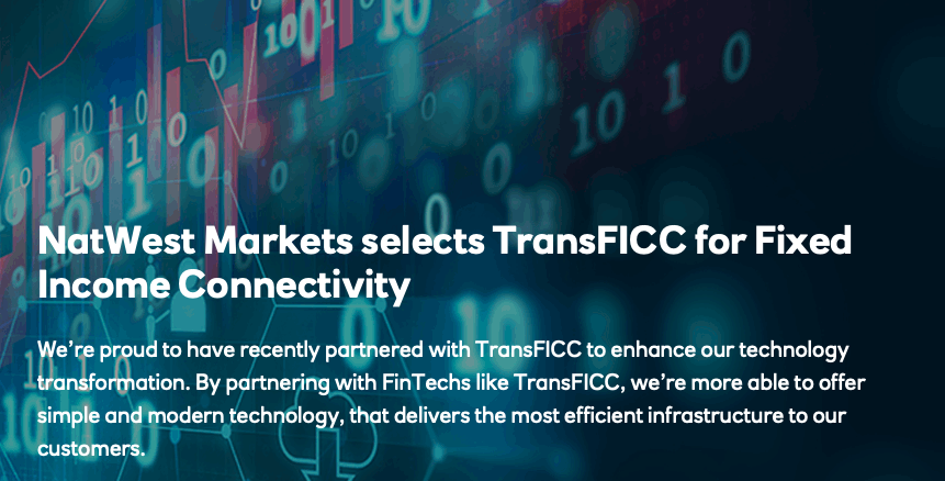 NatWest Markets selects TransFICC