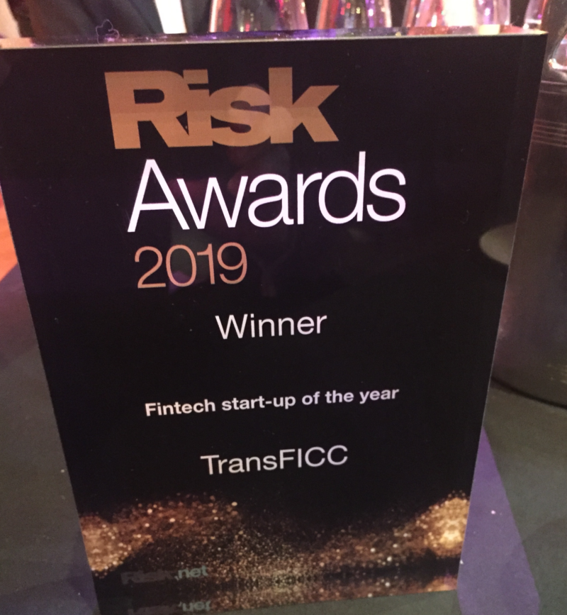 Press Release - TransFICC Named 'FinTech Start-Up of the Year' by Risk